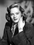 Alexis Smith Posed in Black Coat wearing a Wrist Watch Photo by  Movie Star News