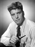 Burt Lancaster wearing Long Sleeve Polo with Tie and Holding a Pipe Photo by  Movie Star News