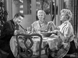 Behave Yourself Man and Two Women Having Conversation While Eating Photo by  Movie Star News