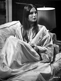 Deborah Raffin Lying on a Couch wearing Robe Photo by  Movie Star News