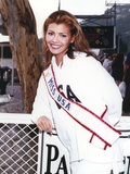 Ali Landry in Coat with Sash Photo by  Movie Star News