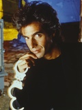 David Copperfield Holding Handcuffs in Black Shirt Photo by  Movie Star News