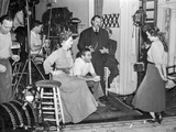 Behind the scenes of The Little Foxes. Photo by  Movie Star News