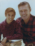 Chuck Connors Posed in Red Plaid Polo Photo by  Movie Star News