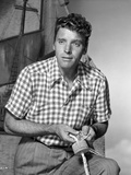 Burt Lancaster wearing a Checkered Polo Shirt and Stripe Slacks Photo by  Movie Star News