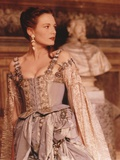 Catherine McCormack in a Beaded Gown with Printed Sleeves Photo by  Movie Star News