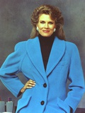 Candice Bergen Posed wearing Blue Coat Portrait Photo by  Movie Star News