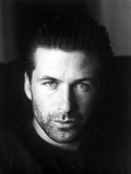 Alec Baldwin Looking Serious in Portrait in Black and White Photo by  Movie Star News