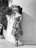 Ann Rutherford Leaning on the Wall wearing a Dress Photo by  Movie Star News