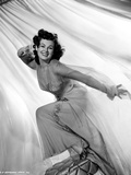 Barbara Hale on a Lace Dress with Leg on Chair Photo by  Movie Star News
