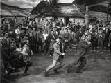 Brigadoon Excerpt Three Men Dancing in a Crowd Photo by  Movie Star News
