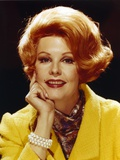 Arlene Dahl in Yellow Coat Black Background Close Up Portrait Photo by  Movie Star News
