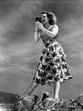 Betty Hutton on a Printed Skirt with Camera Photo by  Movie Star News