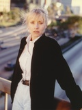 Darlanne Fluegel wearing Black Coat Portrait Photo by  Movie Star News