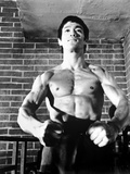 Bruce Lee in Topless and Flexing Photo by  Movie Star News