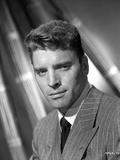 Burt Lancaster in a Stripe Suit and Necktie Photo by  Movie Star News