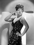 Claire Trevor Looking Away in Black Dress with Hand on Hips Photo by  Movie Star News
