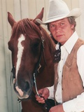 David Soul posed with Horse Portrait Photo by  Movie Star News