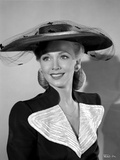 Carole Landis on a Hat and smiling Photo by  Movie Star News