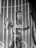 Debbie Reynolds wearing in Checkered Top Behind Bars Photo by  Movie Star News