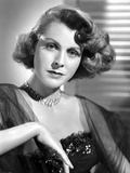 Frances Dee posed in a Portrait in Black and White Photo by  Movie Star News