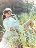 Dawn Wells Posed in White Sweater Photo by  Movie Star News