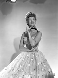 Dinah Shore Portrait wearing White Fancy Dress Photo by  Movie Star News