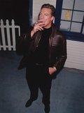 Christopher McDonald in Leather Jacket With Cigarette Photo by  Movie Star News