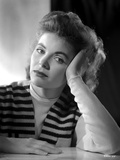 Dorothy McGuire on a Stripe Top and Face Leaning on Hand Photo by  Movie Star News