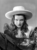 Ella Raines Looking Serious in Cowgirl Outfit Photo by  Movie Star News