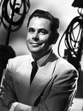 Glenn Ford Posed in White Suit Photo by  Movie Star News