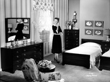 Dorothy Malone on a Dress in a Bedroom posed and smiling Photo by  Movie Star News