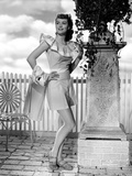 Dorothy Malone on an Ruffled Top with Hands on Waist Photo by  Movie Star News