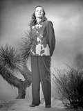Ella Raines on a Printed Top and Long Sleeve Photo by  Movie Star News