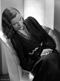 Ella Raines Seated in Black and White with Robe Photo by  Movie Star News
