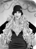 Billie Dove Posed in Black Dress with Feather Scarf Portrait Photo by  Movie Star News