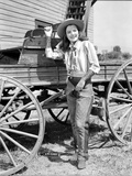 Ella Raines Posed in Cowgirl Attire Photo by  Movie Star News