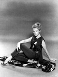 Deborah Kerr sitting on a Floor and Reclining Photo by  Movie Star News