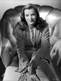 Ella Raines Seated in Classic Robe Photo by  Movie Star News