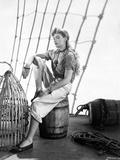 Frances Farmer sitting on a Barrel Portrait Photo by  Movie Star News