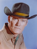 Chuck Connors in Brown Polo with Hat Close Up Portrait Photo by  Movie Star News