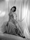 Barbara Hale on a Silk Dress sitting Photo by  Movie Star News