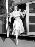 Dorothy Malone on Ruffled Dress smiling and posed Photo by  Movie Star News