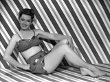 Barbara Rush Reclining in Classic Photo by  Movie Star News