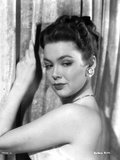 Classic Portrait of Barbara Rush posed with Silver Necklace and Earrings Photo by  Movie Star News