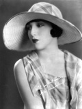 Bebe Daniels Portrait in White Brim Hat and Checkered Sleeveless Blouse Photo by  Movie Star News