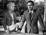 Christopher Plummer Talking in Suit With Woman Photo by  Movie Star News