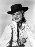 Claire Trevor Posed in White Long Sleeve with Hat Photo by  Movie Star News