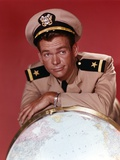 Dean Jones Portrait Leaning on a Globe in Army Uniform Photo by  Movie Star News