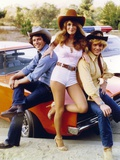 Dukes Of Hazzard Leaning on Car Group Picture with Cowboy Hat Photo by  Movie Star News